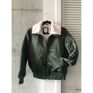 Gap fur collar bomber jacket